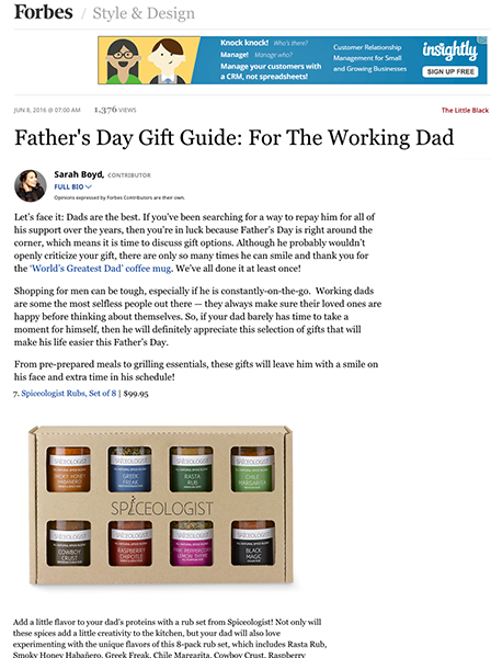 Father's Day Gift Guide: For The Working Dad | spiceologist.com