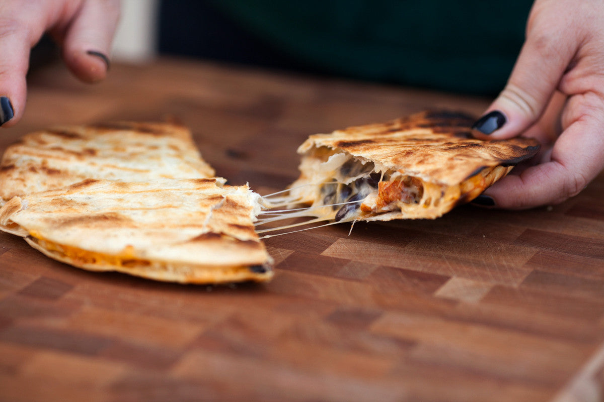 Chile Margarita Chicken & Black Bean Quesadillas Recipe | spiceologist.com