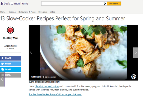 MSN - 13 Slow-Cooker Recipes Perfect for Spring and Summer | spiceologist.com
