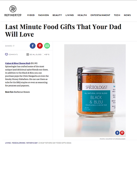 Refinery29 - Last Minute Food Gifts That Your Dad Will Love | spiceologist.com