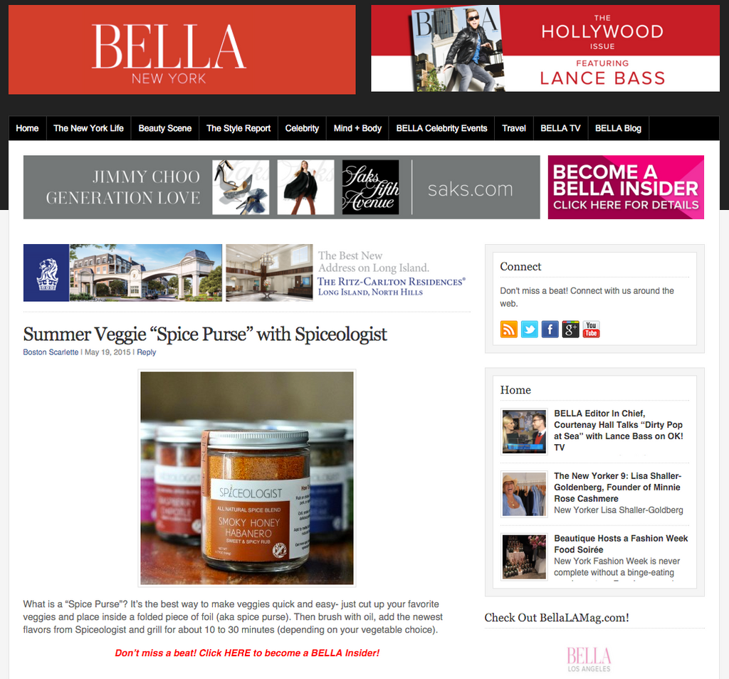 "Bella NYC Summer Veggie ""Spice Purse"" with Spiceologist 