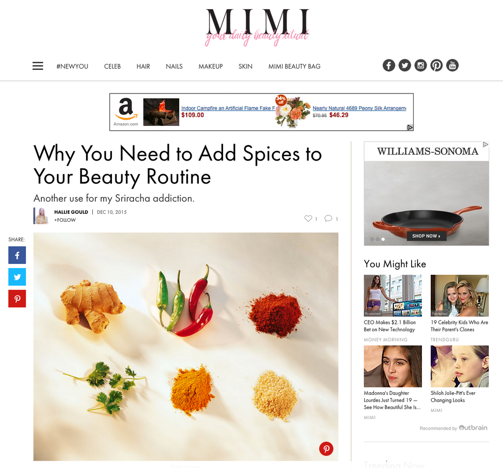 MimiChatter.com Why You Need to Add Spices to Your Beauty Routine | spiceologist.com
