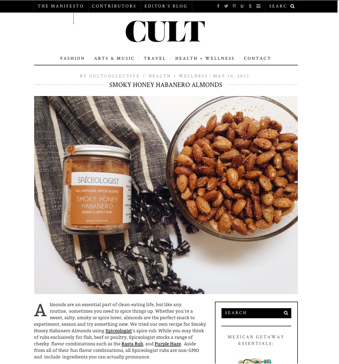 TheCultCollective.com Smoky Honey Habanero Almonds | spiceologist.com