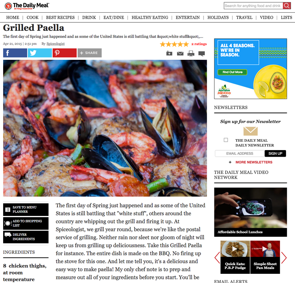 The Daily Meal Grilled Paella | spiceologist.com