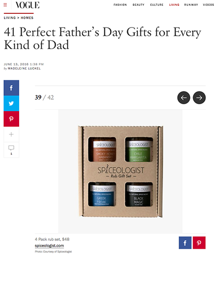 Vogue Magazine - 41 Perfect Father's Day Gifts for Every Kind of Dad | spiceologist.com
