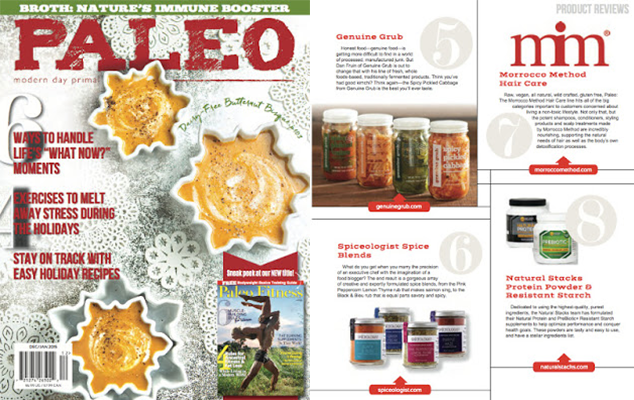 Paleo Magazine - Spiceologist Spice Rubs Product Review Dec/Jan 2016 | spiceologist.com