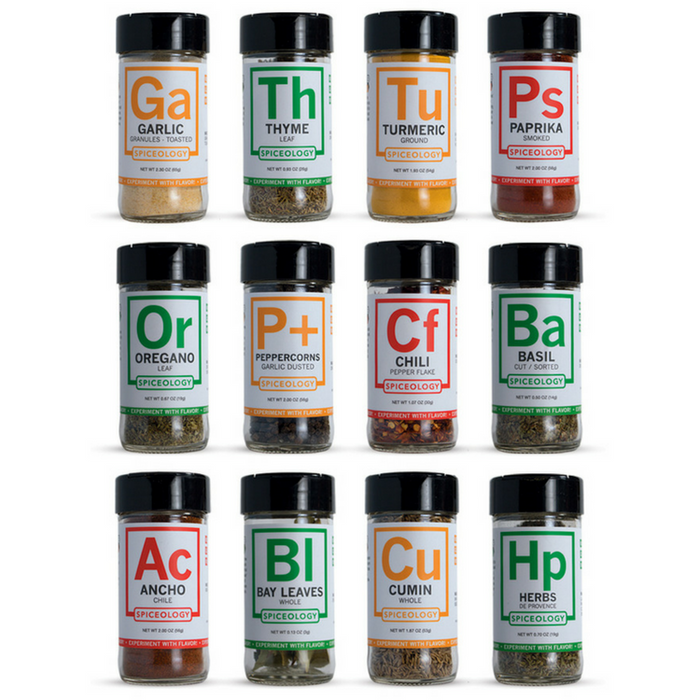 12 Essential Spices & Herbs Set