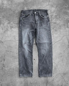 Levi's 501 Blue Grey Distressed Jean