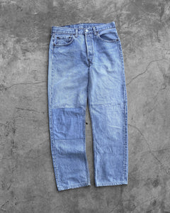 Levi's 501 Faded Patched & Repaired Jeans - 1990s
