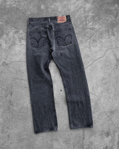 Levi's Charcoal Black Faded Jeans - 1990s