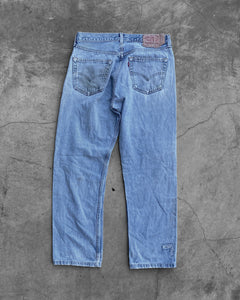 Levi's 501 Faded Patchwork Jeans - 1990s