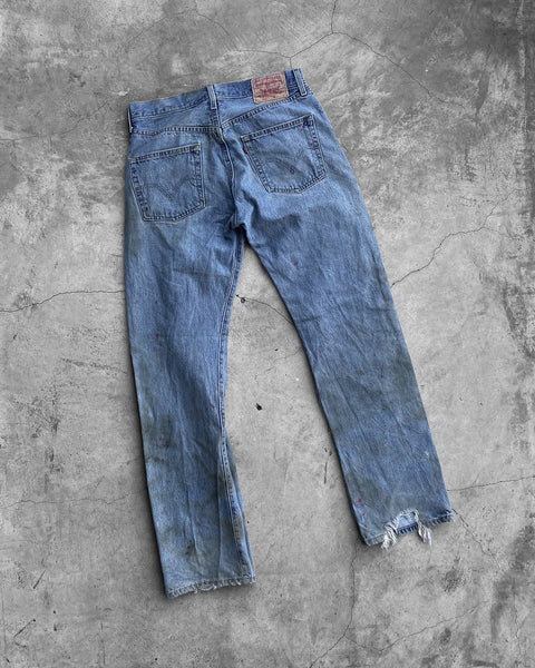Levi's 501 Mud Washed Stained Jeans