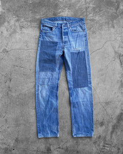 Levi's 501 Sun Faded Patchworked Jeans
