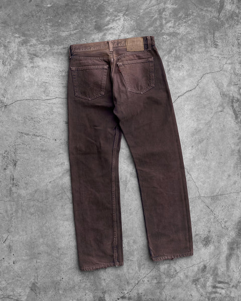 Levi's 501 Sun Faded Rust Brown Jeans - 1990s