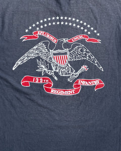 "Hanes Heavyweight Faded ""139th Regiment Infantry"" Tee - 1990s"