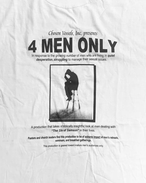 """4 Men Only"" Religious Incel Tee - 2000s"