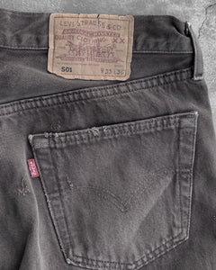 Levi's 501 Brown Released Hem Jeans - 1990s