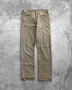 Levis 501 Tobacco Stained Released Hem Jeans - 1990s