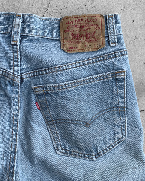 Levi's 501XX Blue Faded Jeans - 1990s