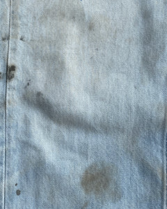 Levi's Blue Contrast Stitch Oil Stained Jeans - 1990s
