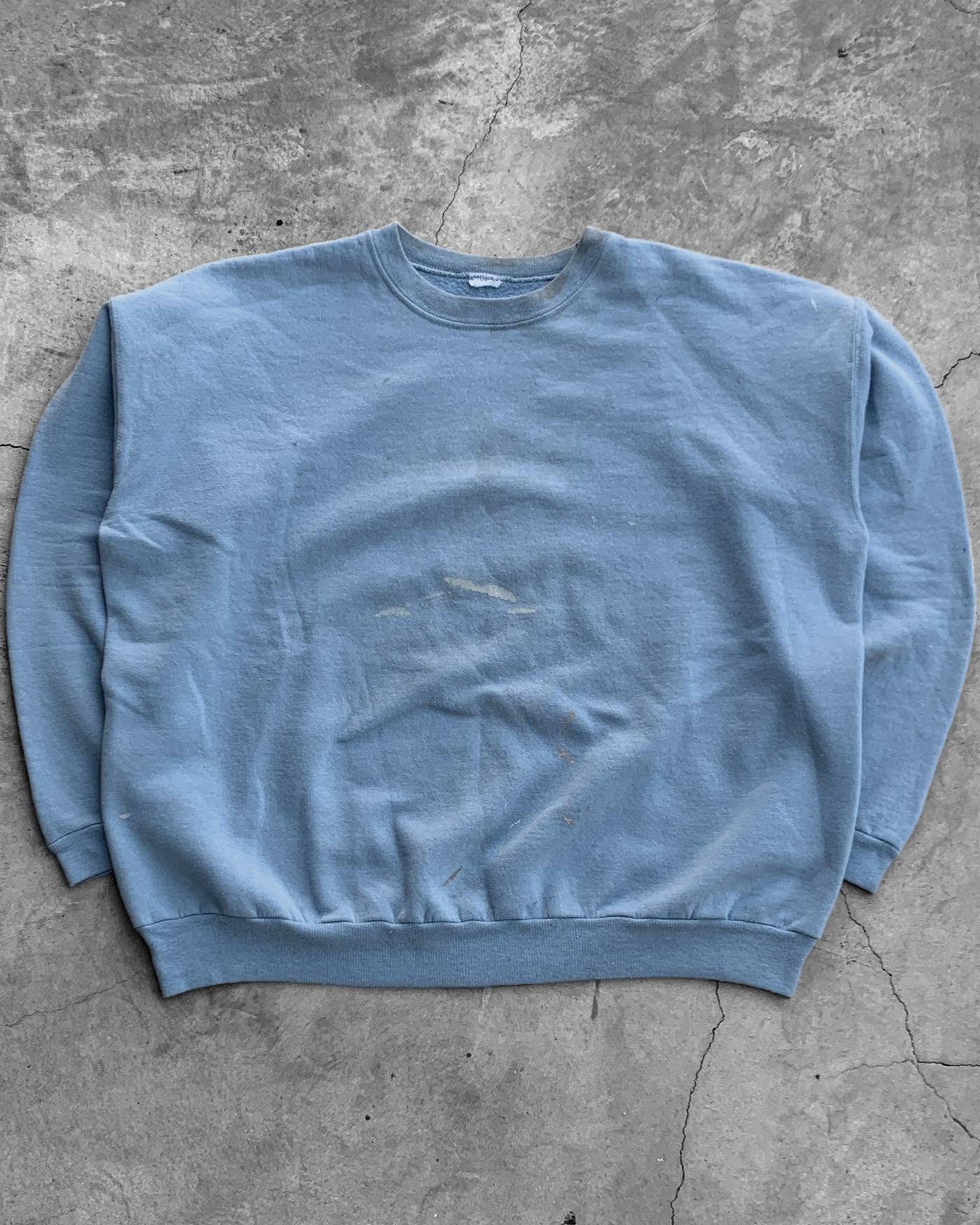 Sky Blue Painted Sweatshirt - 1980s
