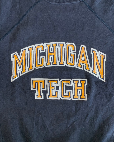 """Michigan Tech"" Raglan Sweatshirt - 1980s"