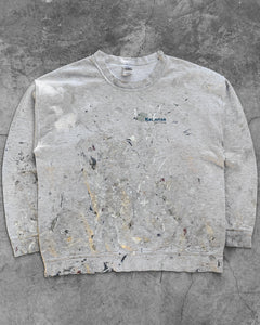 Grey Painters Crewneck Sweater - 1990s