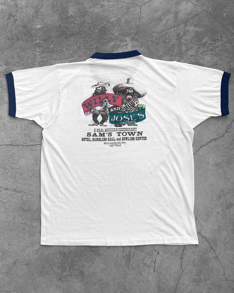 "Single Stitched ""Willy and Joe's Cantina"" Ringer Tee - 1980s"