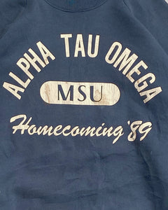 "Fruit Of The Loom ""Alpha Tau Omega"" Raglan Sweatshirt - 1989"