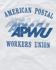 "Union Made ""American Postal Workers Union"" Ringer Tee - 1990s"