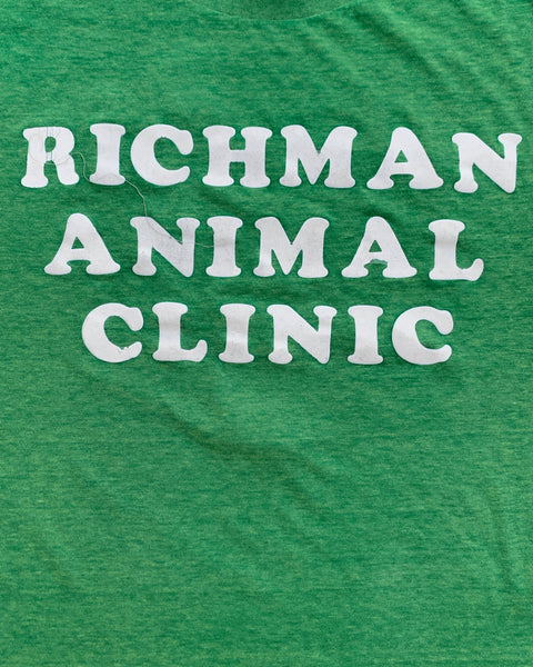 "Single Stitched ""Richman Animal Clinic"" Political Tee - 1990s"