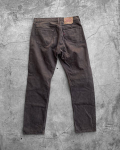 Levi's 501 Mud Brown Denim Jeans - 1990s