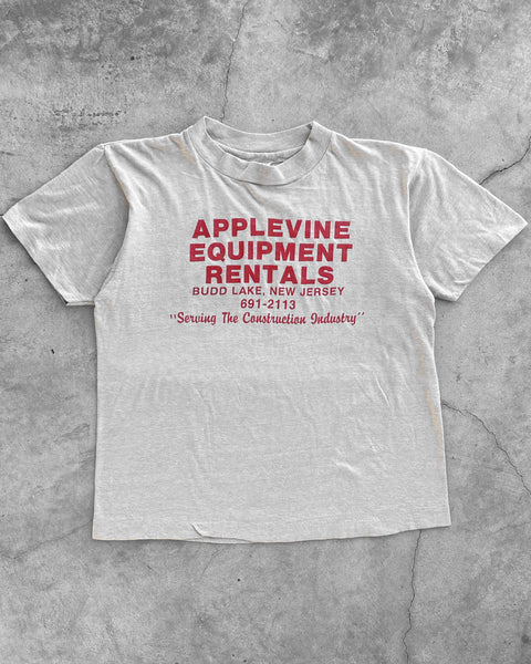 "Single Stitched ""Applevine Equipment Rentals"" Cropped Tee - 1980s"