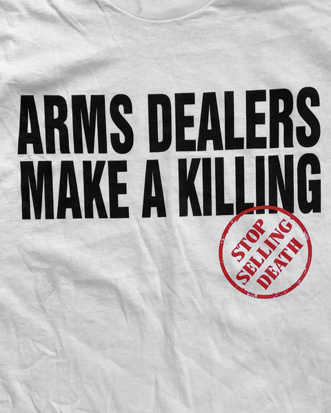 "Single Stitched ""Arms Dealers Make A Killing"" Political Tee - 1990s"