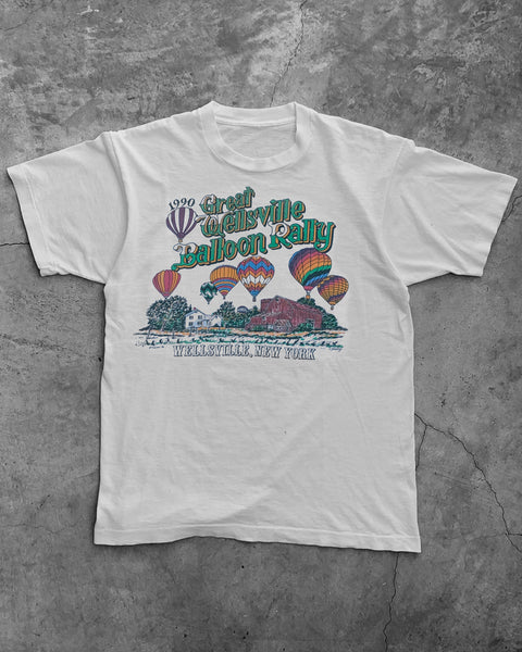 "Single Stitched ""Great Wellsville Balloon Rally"" Tee - 1990s"
