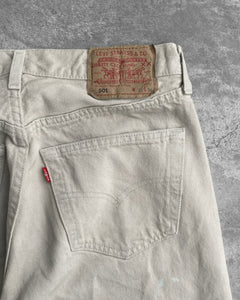 Levi's 501 Biege Stained Jeans - 1990s