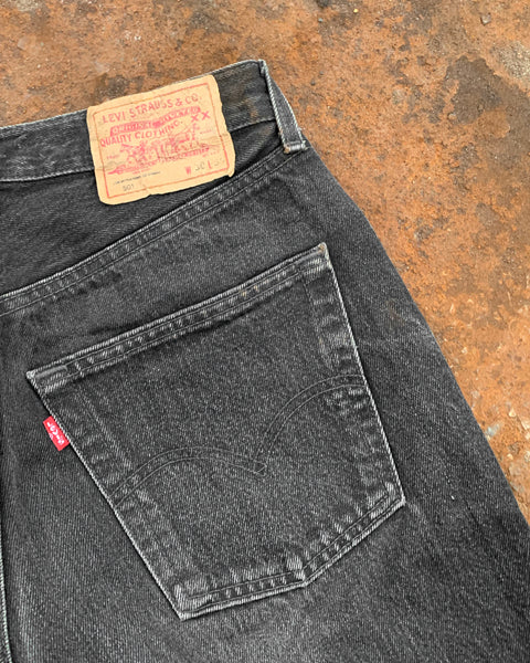 Levi's 501 Washed Black Jeans - 1990s