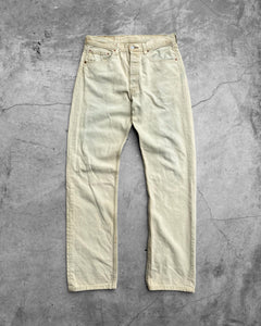 Levi's 501 Bleached Stained Denim Jeans