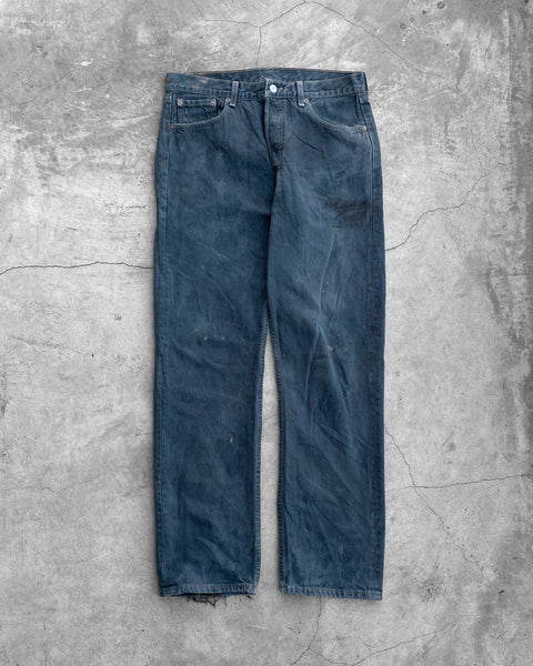 Levi's 501 Navy Blue Dirty Jeans  - 1990s
