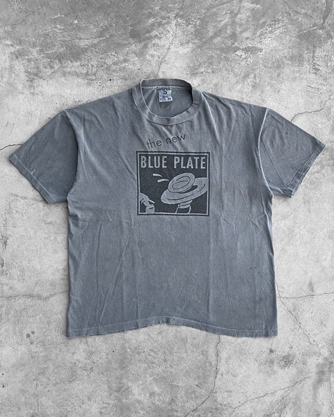 "Faded Grey ""The New Blue Plate"" Tee - 1990s"
