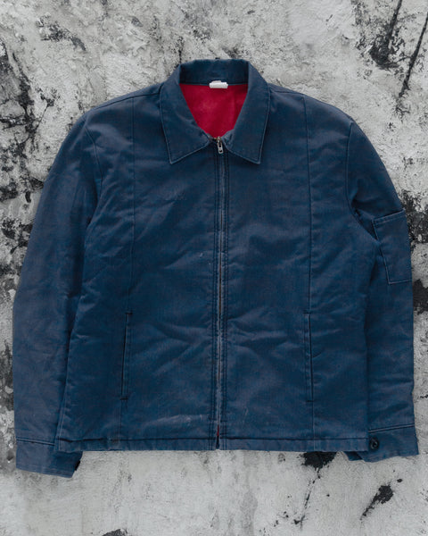 Faded Navy Lined Work Jacket - 1990s