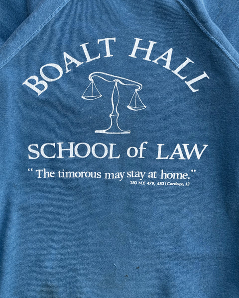 """Boalt Hall School of Law"" Raglan Sweatshirt - 1980s"