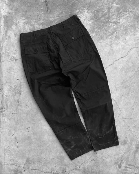 Engineered Garments Black Fatigue Pants with Drawstrings