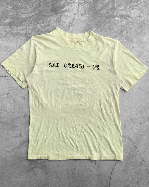 "Pale Yellow ""The Creage"" Tee - 1980s"