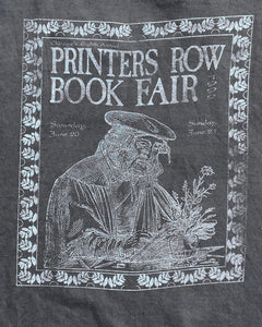 "Single Stitched Screen Stars ""Printers Row Book Fair"" Faded Black Tee - 1990s"
