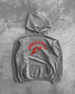 "Russell ""Broad Ripple"" Grey Hooded Sweatshirt - 1970s"