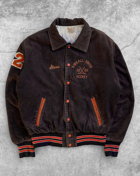 """Kimball Union Hockey"" Corduroy Varsity Jacket - 1980s"