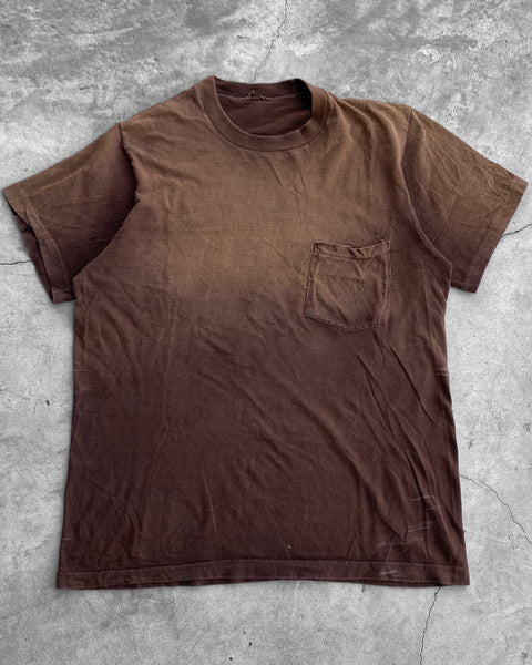 Sun Faded Brown Pocket Tee