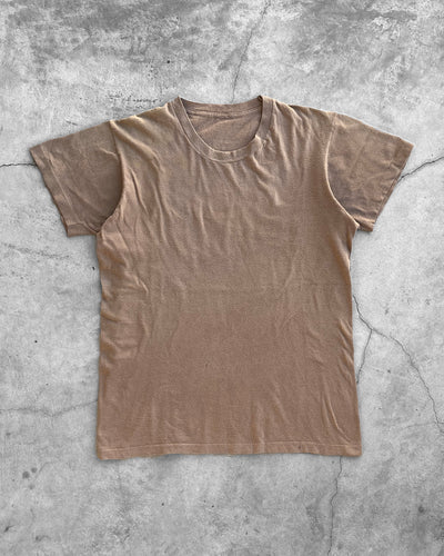 Single Stitched Camel Brown Blank Tee - 1990s