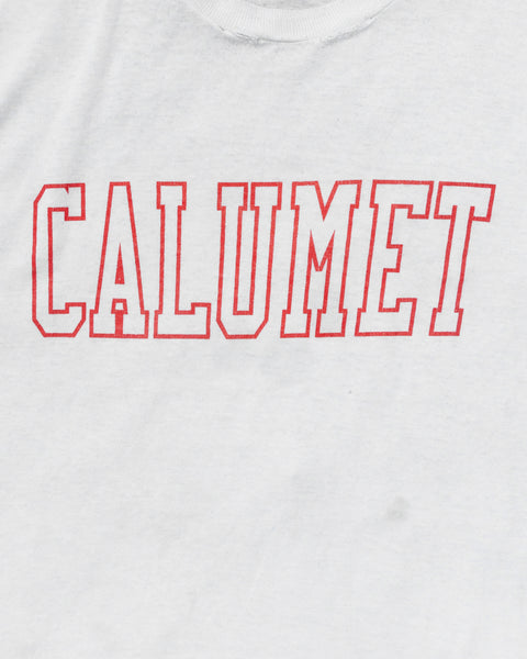 "Single Stitched Paper Thin ""Calumet"" Tee - 1980s"